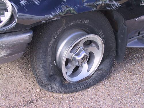 flat tire Willis Law Firm